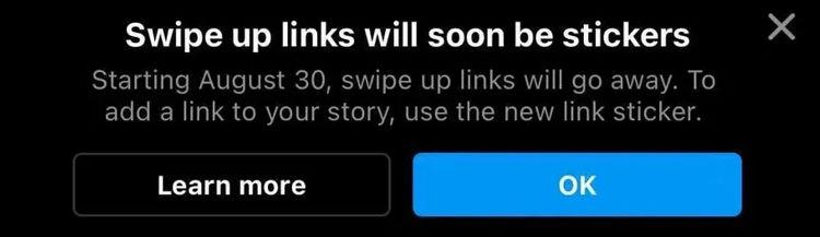 swipe up Instagram